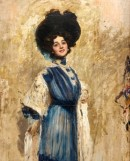 Cesare Tallone. Portrait of Lina Cavalieri, 1905, oil on canvas. Colezione Candiani