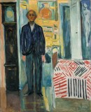 Edvard Munch. Self-Portrait. <em>Between the Clock and the Bed</em>, 1940-43. © Munchmuseet