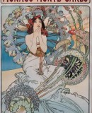 Alphonse Mucha, <em>Monaco, Monte Carlo</em>, 1897, color lithograph on paper. Photo taken from the website of the Dayton Art Institute