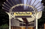 Hector Guimard, 1900. Entrance to the Metro station at Porte Dauphine Paris