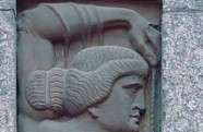Edgar Friesendorf, 1911. Office building. Sculptural relief by August Volz