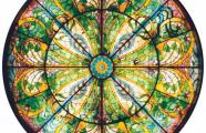 Architect unknown, 1902. Stained glass skylight in the main hall of the bank at 3 Pushkin St.