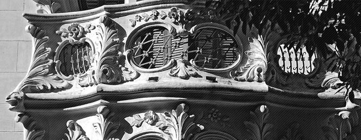 Marceliano Coquillat and Víctor Beltrí, 1906. Detail of the Casa Maestre balcony, Cartagena